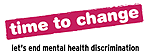 Logo: Time to change (Let's end metal health discrimination)